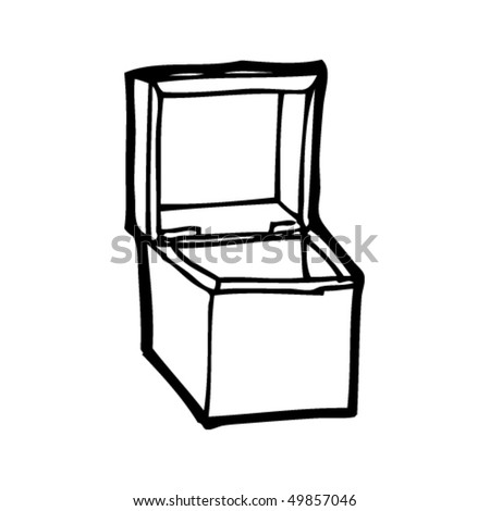 quirky drawing of a box