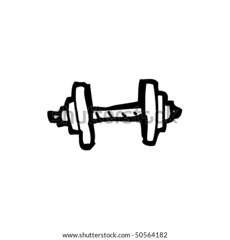 How to draw dumbbells