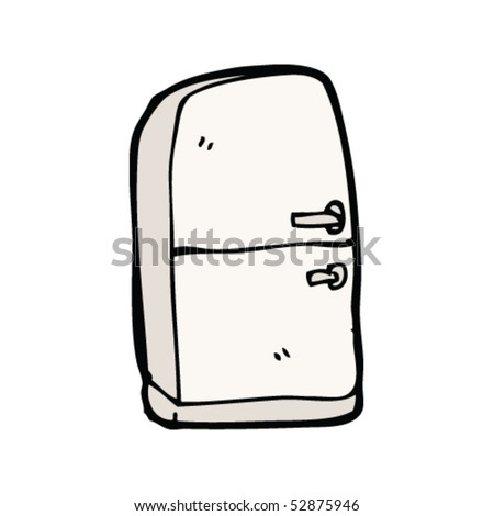 Quirky drawing of a fridge freezer stock vector