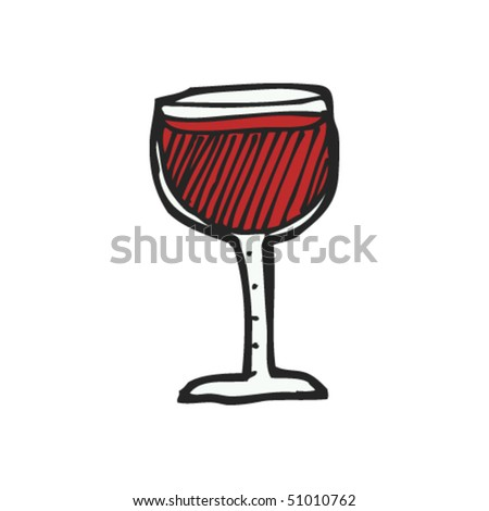 quirky drawing of a glass of wine