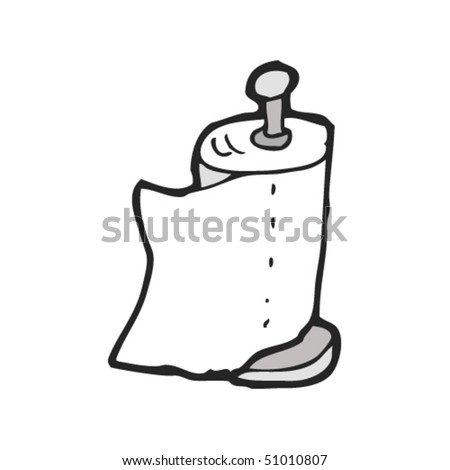 quirky drawing of a kitchen roll