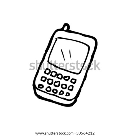 quirky drawing of a modern mobile