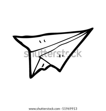 quirky drawing of a paper airplane