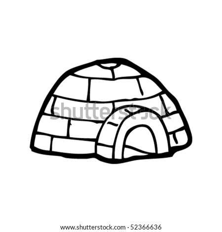 quirky drawing of an igloo