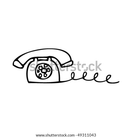 quirky drawing of an old telephone