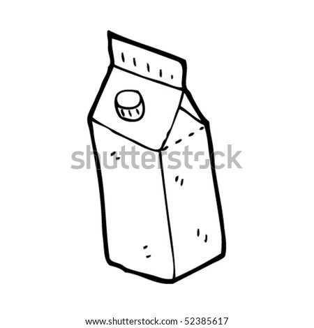 quirky drawing of carton - stock vector