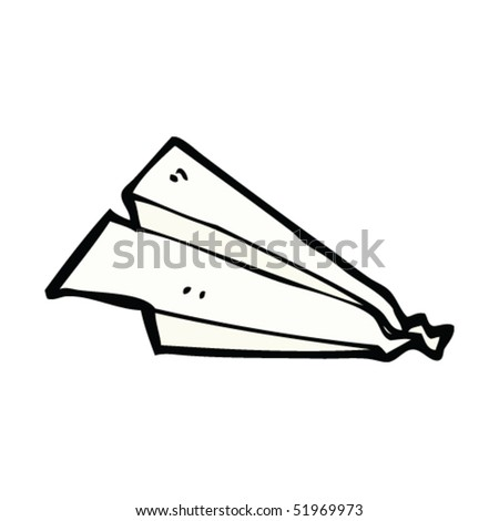 quirky drawing of crumpled paper airplane