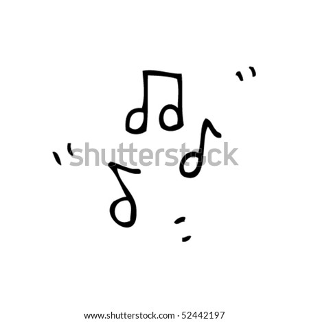 quirky drawing of music notes