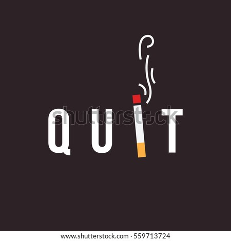 quit smoking concept minimal