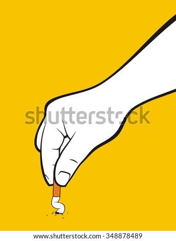 quit smoking hand