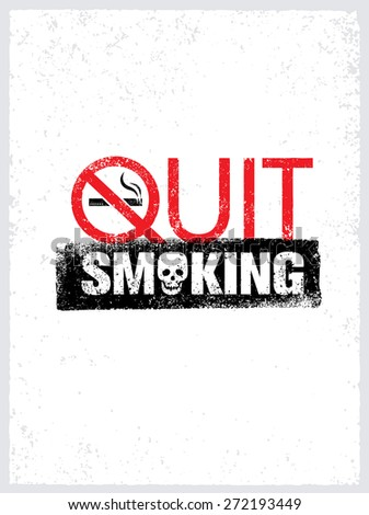 quit smoking sign creative