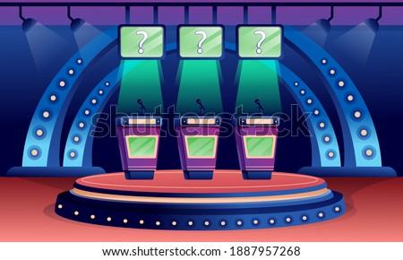 quiz game stage interior design