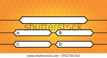 Quiz game vector illustration. Test, exam, answer, education, learning, internet, lottery. Concept for Web, Mobile, Presentations. Stock photo ©