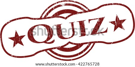 Quiz grunge stamp
