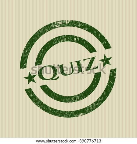 Quiz grunge style stamp