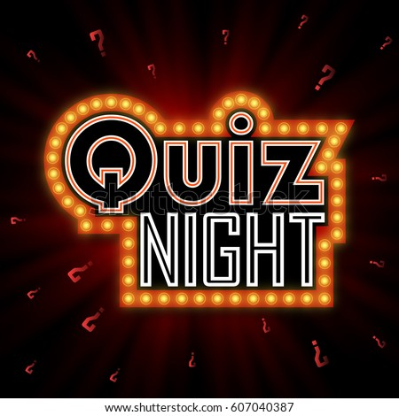quiz night announcement poster