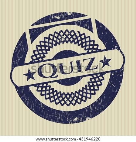 Quiz rubber stamp