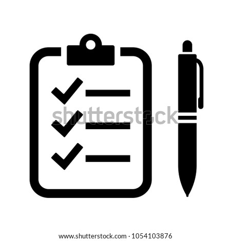Quiz vector icon isolated on white background