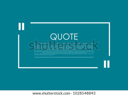 Quote blank speech bubble abstract rectangle bright design. Vector background