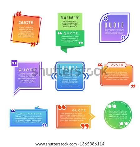 Quote boxes. Paragraph marks comments shapes vector design template. Illustration of comment quote, note paragraph in box