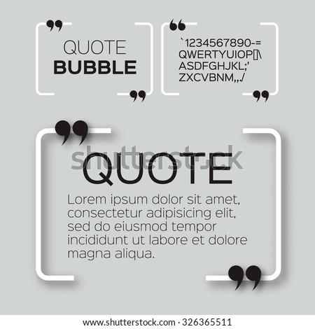 quote bubble speech bubble
