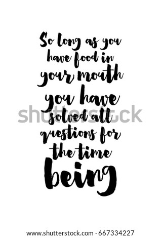 quote food calligraphy style....