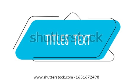 Quote frame notes. Layout for links and digital information. A simple source for advertising.  Quote frame and notes templates vector set. Сток-фото ©