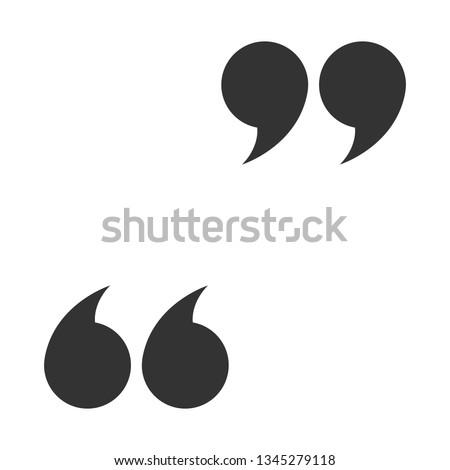 Quote icon, commas. Vector illustration