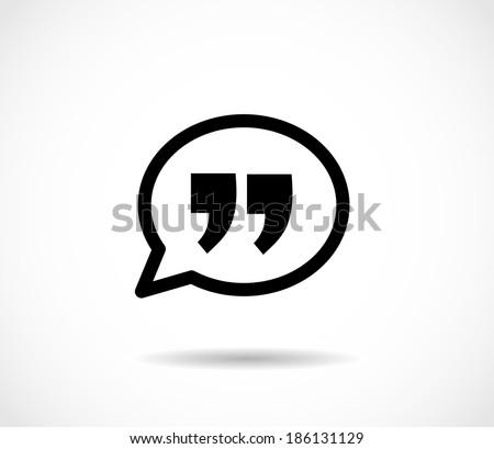 Quote icon vector