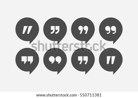 Vector Quotation Mark Symbol Collection Download Free Vector Art Cool Quote Symbol