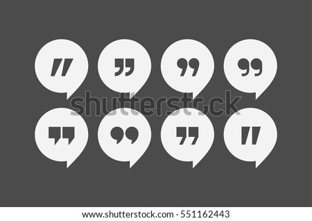 Quotation Marks Icon Set Download Free Vector Art Stock Graphics