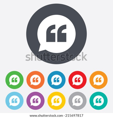 quote sign icon quotation mark