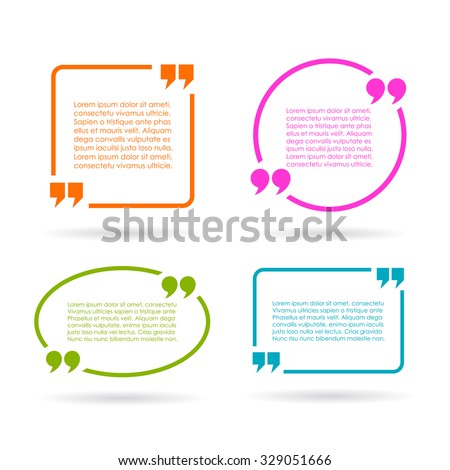 quote text boxes isolated on