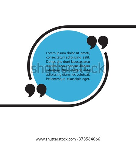 Quote text bubble on white background. Empty template. Vector illustration.