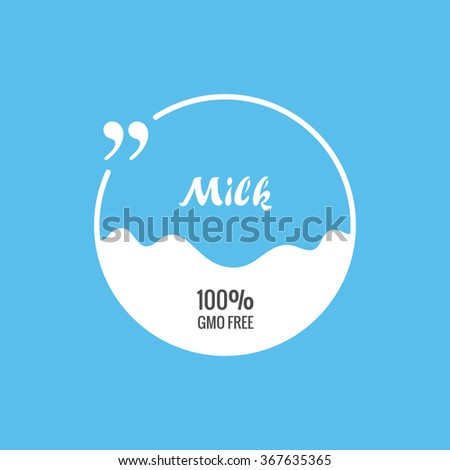 quote vector blank template bubble label pack milk empty background circle business card