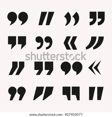 quotes icon vector set quote