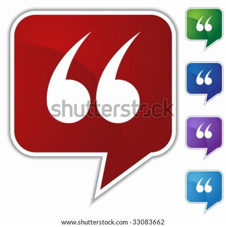 quotes speech balloon