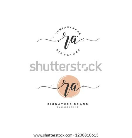 R A RA Initial logo template vector Stok fotoğraf ©