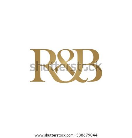 R&B Initial logo. Ampersand monogram golden logo Stock fotó ©