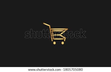 R, C, RC, CR Letter with Cart Logo Template vector icon illustration design. Letter R C Online Shop Logo Stock fotó ©