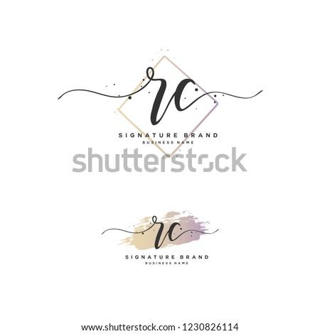 R C RC Initial logo template vector Stok fotoğraf ©