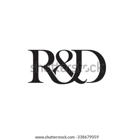 R&D Initial logo. Ampersand monogram logo