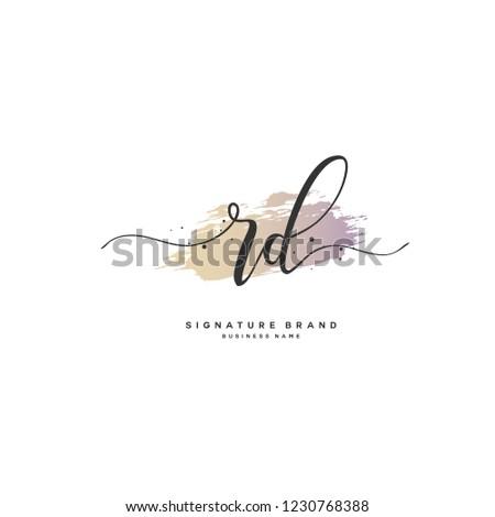 R D RD Initial logo template vector Stok fotoğraf ©