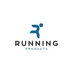 R for running logo design