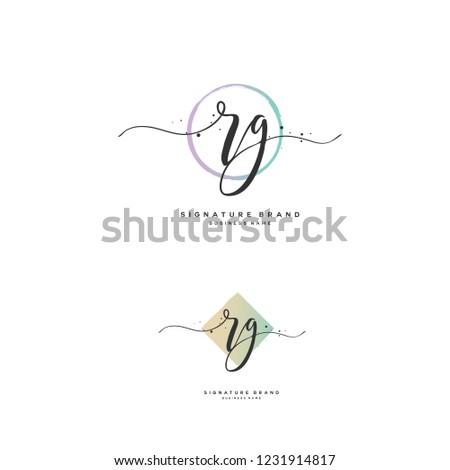 R G RG Initial logo template vector Stok fotoğraf ©