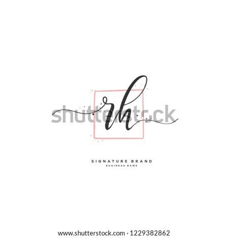 R H RH Initial logo template vector Stok fotoğraf ©