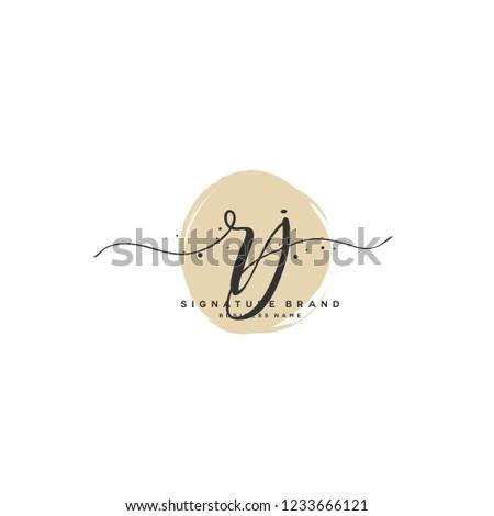 R J RJ Initial logo template vector Stok fotoğraf ©