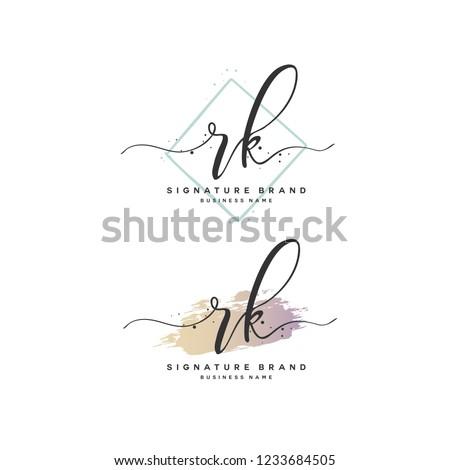 R K RK Initial logo template vector Stok fotoğraf ©