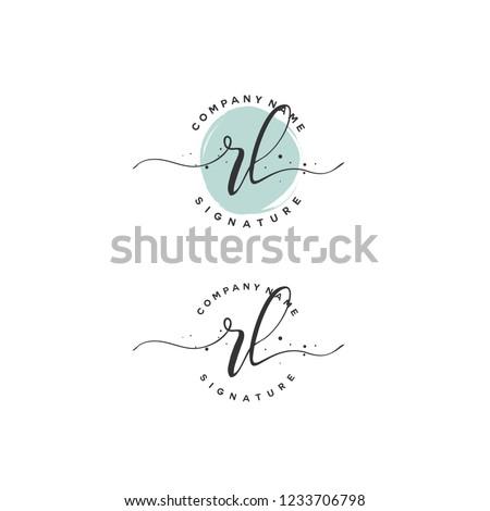 R L RL Initial logo template vector Stok fotoğraf ©