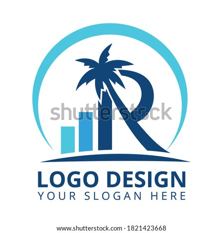R Letter Accounting & Financial Logo Design. Investments, insurance, and retirement planning Logo Design Vector Photo stock ©